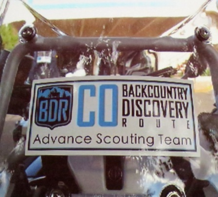 CO BDR windscreen sticker