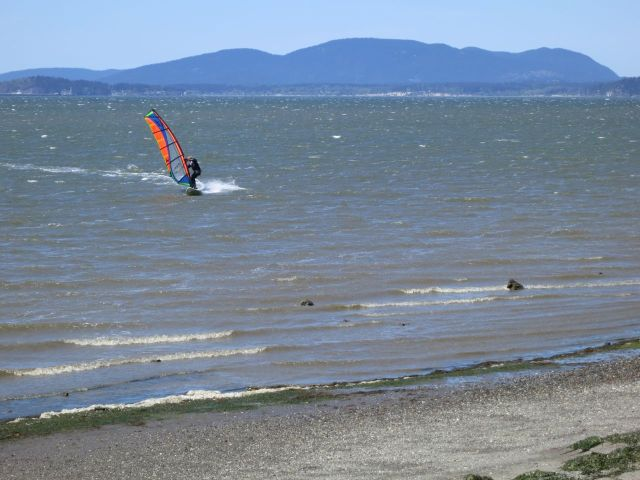 Windsurfers were flying too