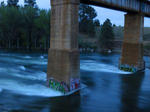 Evening along the Spokane River